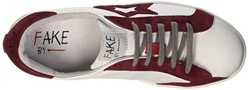 Fake By Chiodo Low F 830, Sneaker a Collo Basso Unisex-Adulto Bianco (Bianco/Porpora)