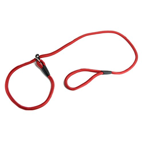 TOOGOO(R) Nylon Seil Hundefluesterer Stil Slip Zug Leine Blei Kragen rot (Slip-kragen)
