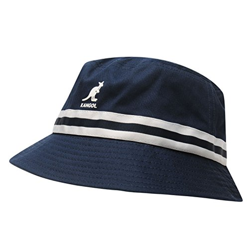 Kangol Herren Stripe Bucket Hut Mütze Marinefarbe Small/Medium