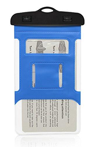 Aschoen braccio custodia impermeabile a tenuta stagna, Phone sigillato impermeabile durevole impermeabile della borsa con cordino portatile smartphone, White blue
