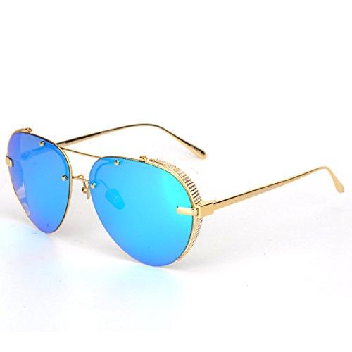 Wkaijc Mode Trends Sonnenbrille Männer Und Frauen Persönlichkeit Piloten Polarisatoren Jurte Farbfilm Sonnenbrillen,C