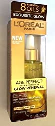 Loreal - Age Perfect Glow Renewal - Facial Oil - For Dull, Dry Skin - 1 oz