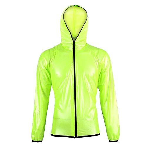 TOPINCN Regenmantel Unisex Outdoor Winddicht Wasserdicht Regenkleidung Anzüge Radfahren Sporthosen Leichte Reise Trench Wandern Mantel Packable Regenjacke(XXL) Packable Trench