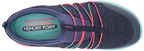 Skechers Synergy 2.0-Simply Chic, Baskets Enfiler Femme Navy/Multi