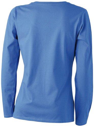 James & Nicholson Damen T-Shirt Langarmshirt Royal