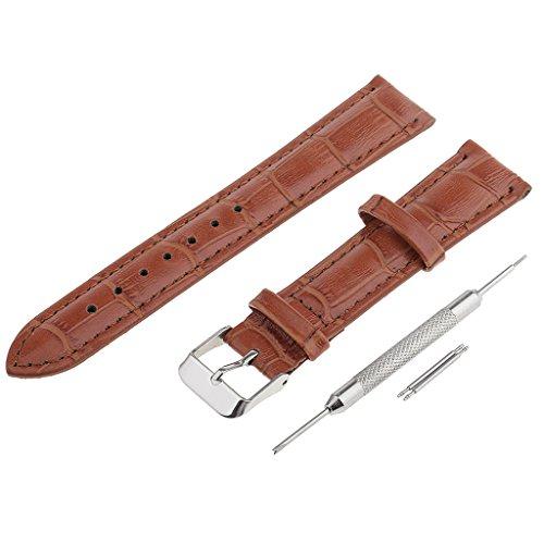 MagiDeal Uhrenarmband Herren Damenuhr Uhrband Armband Ersatzuhr Gurtel Lederarmband 18mm - Braun