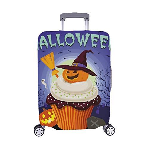 (Nur abdecken) Vintage Halloween Poster Design Cupcake Spandex Staubschutz Trolley Protector case Reisegepäck Beschützer Koffer Abdeckung 28,5 X 20,5 Zoll