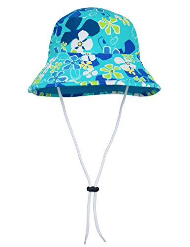 TUGA Sunwear Sonnenhut Mädchen, Retro Ocean, Gr. S (45-47.5 cm), 18-3026-01 (Sonnenschutz Ocean)