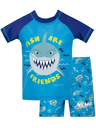 Disney Bañador de Dos Piezas para niño Buscando a Nemo Azul 3 a 4 Años