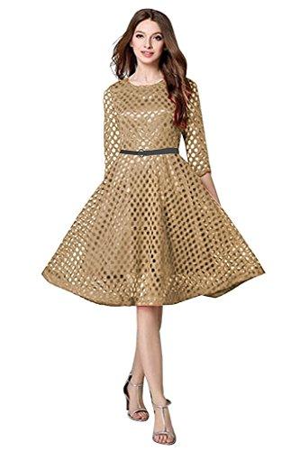 Dresses for Women ( Bullet Cream_Dress_Free Size )