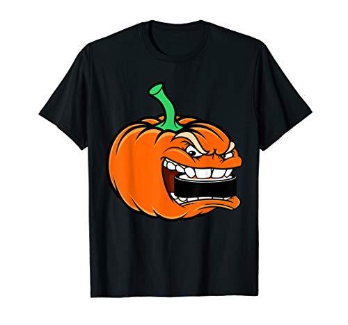 Kürbis, der Kobold-Halloween-Hockey-Kostüm-Geschenk isst T-Shirt (Halloween Hockey Kostüm Kinder)