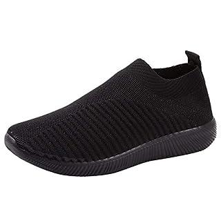 YWLINK Damen Socken Schuhe Outdoor Schuhe Freizeit Slip On Bequeme Sohlen Sports Licht Atmungsaktiv Mesh Sneakers Laufschuhe Turnschuhe Fitnessschuhe Bequeme Schuhe(Schwarz,37 EU)