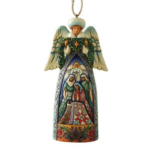 ENESCO Engel Jim Shore Ornament Heartwood Greek Winter Angel Nativity 4008992 -