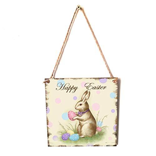 n Happy Easter Hängekarton Festival Wand-Tür-Dekoration Teller Home Shop Anmelden Hanger ()