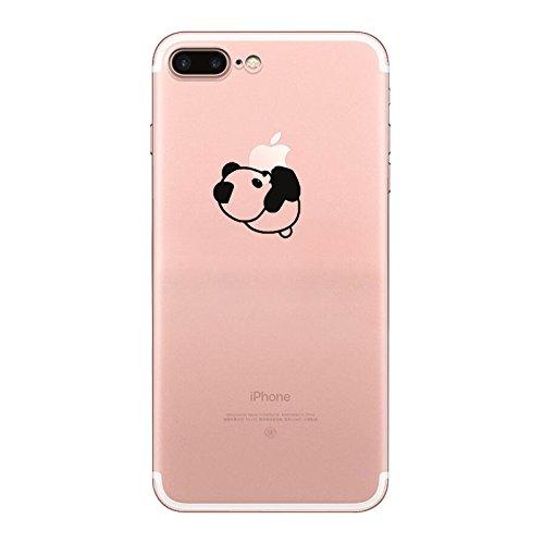 IPHONE 7 Hülle Flamingos Katze Giraffe Weich Silikon TPU Schutzhülle Ultradünnen Case für iPhone 7 Schutz Hülle Panda 2