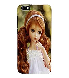 ColourCraft Lovely Doll Design Back Case Cover for HUAWEI HONOR 4X