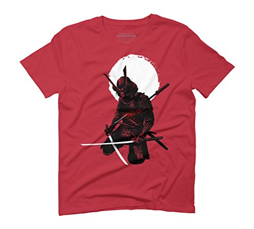 Samurai down Men's Graphic T-Shirt - Design By Humans Red