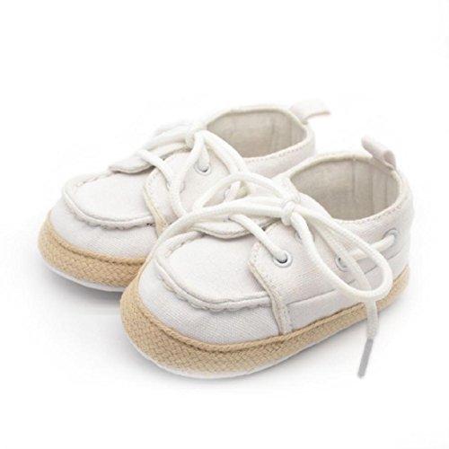 OverDose Baby-Kind Kid Jungen-Mädchen-weiche Sohle-Turnschuh Kleinkind -Schuhe. Junge Mädchen Kleinking 0-6 Monate 6-12 Monate 12-18 Monate Weiß