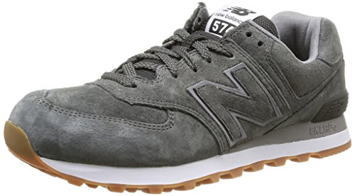 New Balance Herren, , nbml574fsc, grau (grey full pigskin), 44 (Herren Grau High-top-schuhe 10)
