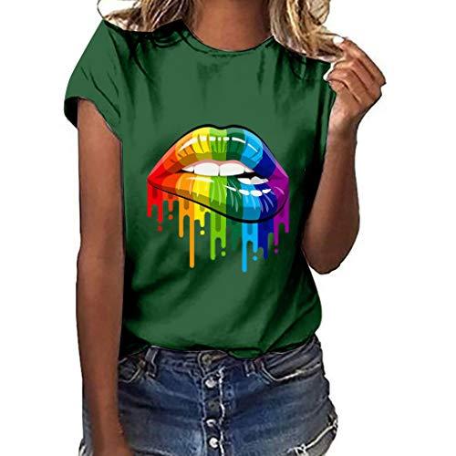 Mädchen Drucken T-Shirt Freizeit O-Kragen Kurze Ärmel Top - Kette-kragen-shirt
