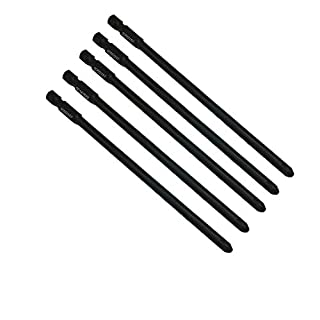 5 x SabreCut SCPZ2157_5 157mm PZ2 Autofeed Collated Drywall Screwdriver Gun Bit Single Ended PoziDriv POZI No.2 Heavy Duty for Makita BFR550 6843 DFR550