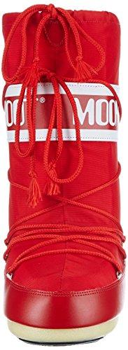 Moon Boot Nylon, Bottes de Neige mixte adulte Rouge (Rosso)