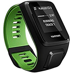 TomTom Runner 3 Cardio+Music, Reloj cardio y música, Negro/Verde, L (Grande)