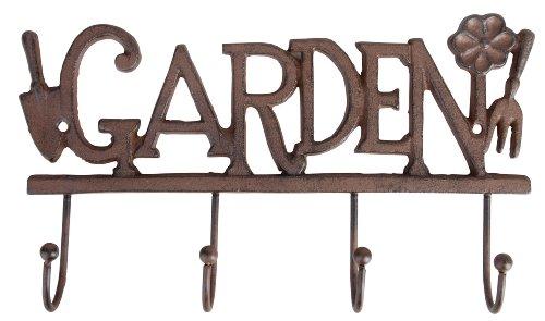 Esschert Design Haken Garden 4er Gusseisen braun 30 x 5,5 x 17,6 cm