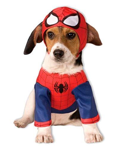 Hunde Spiderman Kostüm Für - Horror-Shop Spider-Man Hunde-Kostüm L