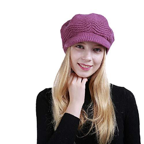 Yuson Girl Cappelli Invernali per Le Ragazze delle Donne Calde Calza  Cappello di Sci di Neve di Neve della Neve con la Visiera (Porpora) 004c63bf1184