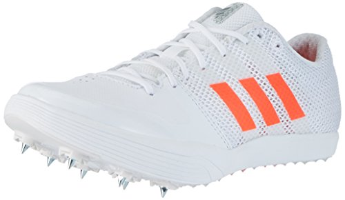 adidas Unisex-Erwachsene Adizero Long Jump Leichtathletikschuhe, Weiß (Ftwr White/Solar Red/Silver Metallic), 40 2/3 EU (Schuh Jump-track)