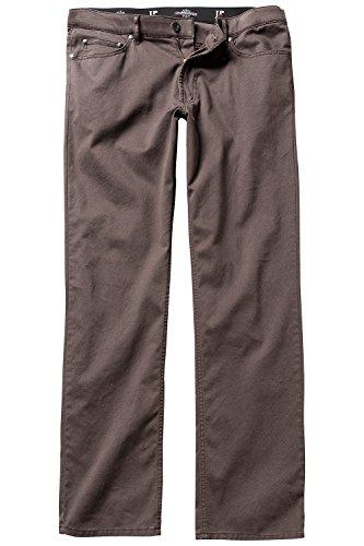 JP 1880 Herren große Größen bis 66, 5-Pocket-Hose, Regular Fit, Zipper, Gürtelschlaufen, Minimalmuster, Baumwolle Dunkelbraun 26 711454 30-26