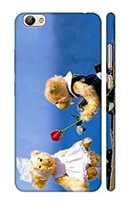 AMAN Teddy 3D Back Cover for Vivo V5