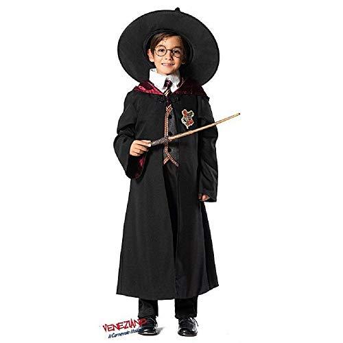 Veneziano novidea costume vestito carnevale bambino mago harry potter 5 6 7 8 9 10 11 anni (7/8 anni)