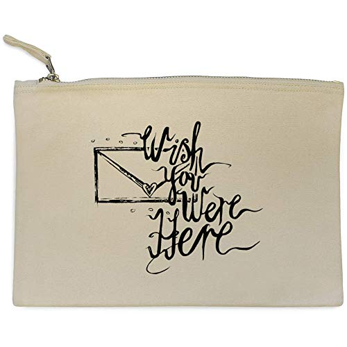 Azeeda 'Wish You were Here' Bolso de Embrague / Accesorios...