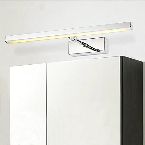 Mirroor Style moderne réglable Miroir à LED Lumière 7W 12W AC90–260V moderne Cosmétique en Acrylique lampe murale LED Miroir de salle de bain avant lampe de lumière, 7W, Blanc chaud (2700–3500K)