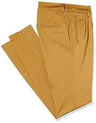 Park Avenue Woman Tapered Pants (PWTA00602-F6_Dark Fawn_76)