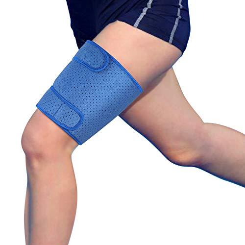 Oberschenkelbandage Kompression, Oberschenkel Bandage Muskelfaserriss mit Klettverschluss Neopren Verstellbar Kompressions-Ärmel für Oberschenkel und Ischiasnerven Schmerzlinderung, Rehabilitation -