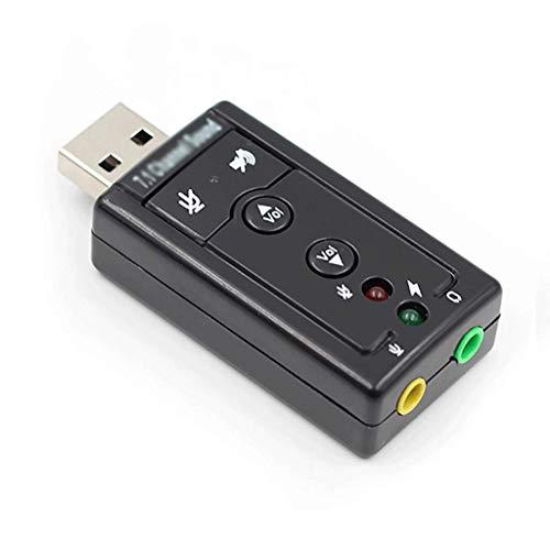 OPmeA 7.1 Externe USB-Soundkarte USB-Buchse 3,5-mm-Kopfhörer-Audio-Adapter-Mikrofon Soundkarte für Mac Win Computer Android Linux