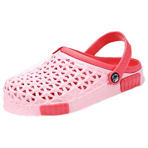YOUJIA Unisex Clogs Atmungsaktiv Pool Gartenschuhe Sommer Sandalen Hausschuhe Strand Aqua Slippers #3 Pink