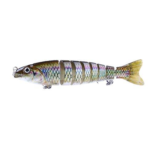 IWGR Fishing Tools Angeln Zufällige Farbe Lieferung Angelhaken, JM027-X 12,7 cm 18 g Multi-Abschnitt Formative Harte Köder künstliche Angelköder mit zweifachen Haken Werkzeuge