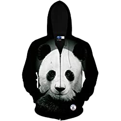 Sudaderas Con Capucha Unisex 3D Prints Sudadera Panda Full Sleeve Jumper Top Casual Work Leisure Deporte Sweater Pull Over Large Size,OneColor-4XL