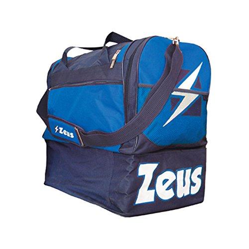 Zeus Herren Sporttasche Schultergurt Umhängetasche BORSA GAMMMA 52X52X36 cm (SCHWARZ-ROT) BLAU-ROYAL
