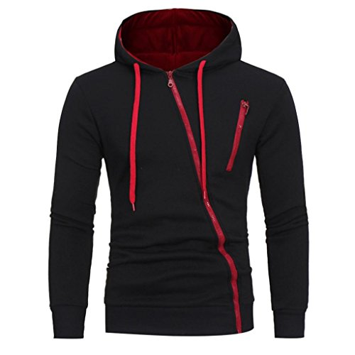 Felpa con Cappuccio Uomo, Beauty Top 2017 Hooded Sweatshirt Manica Lunga Hoodie Cappotto Giacca Pullover Felpe Top Outwear Nero