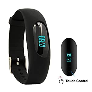 Fitness Tracker, AsiaLONG Non-bluetooth Pedometer Watch Smart Bracelet with Step Activity Tracker, Calorie Counter, Sleep Monitor, Distance, Slim Touch Screen for Running Walking - No App Needed