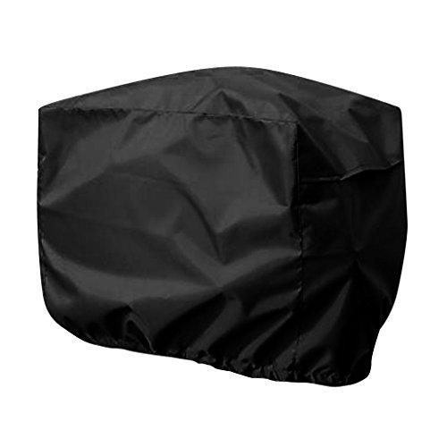 Gazechimp Universell Wasserdichte Motorhülle Motorabdeckung Außenborder Motor Persenning Abdeckung, Sonnenverdeck und Staubschutz, 40 x 25 x 32 cm - Schwarz (Bootsmotoren Aussenborder 40 Ps)