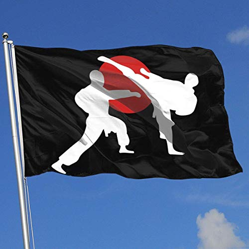 Oaqueen Flagge/Fahne Karate Breeze Flag 3 X 5-100% Polyester Single Layer Translucent Flags 90 X 150CM - Banner 3' X 5' Ft