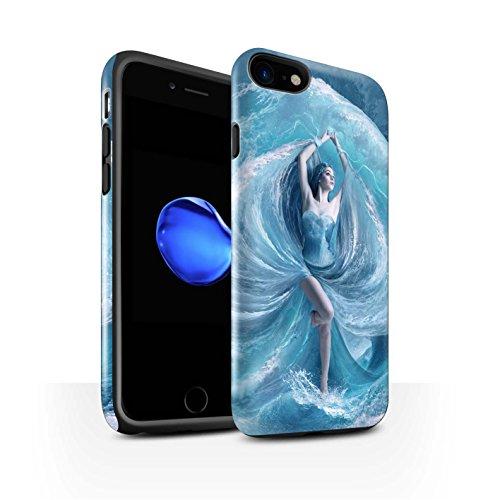 Offiziell Elena Dudina Hülle / Glanz Harten Stoßfest Case für Apple iPhone 8 / Air-Kleid Muster / Fantasie Engel Kollektion Meer Kleid