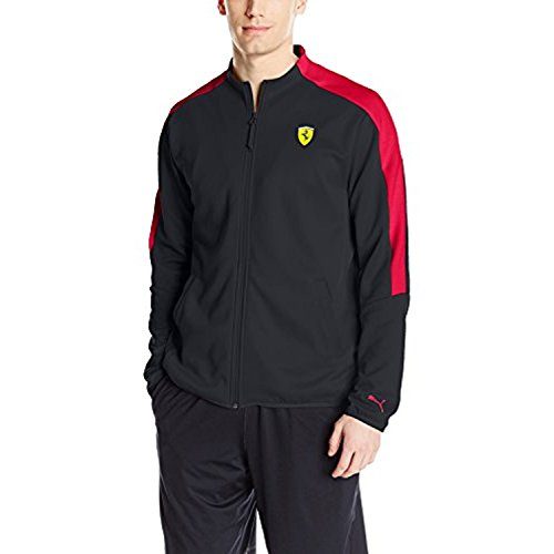Puma Men's Scuderia Ferrari Track Jacket, Black, XL