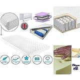 Pocket Sprung Memory Foam Mattress Spring Cot Bed-Junior Bed Size140x70 x 13CM & 120x60x13cm Fibre Cot Bed Mattress